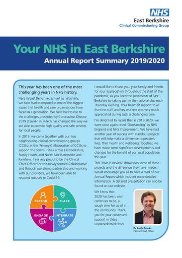 East Berkshire CCG year in review 2019-20