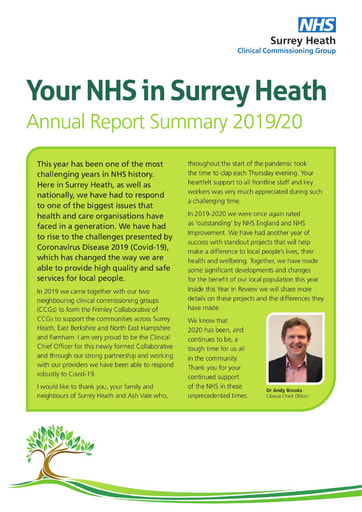 Surrey Heath CCG year in review 2019-20